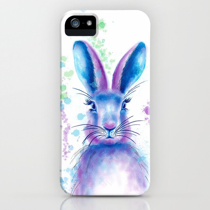 Messy Bunny iPhone Case