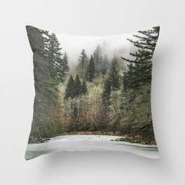 Pacific Northwest Forest River - 24/365 Throw Pillow