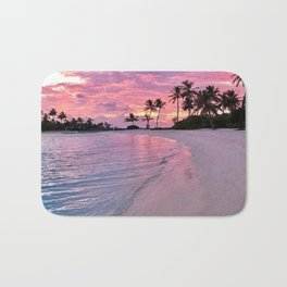 SUNSET AND PALM TREES Bath Mat