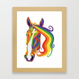 Rainbow Suffolk Punch Horse - Suffolk Pride 2019 Framed Art Print