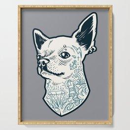 Tattooed Chihuahua Serving Tray