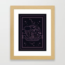 I'm a f*ing Unicorn Framed Art Print