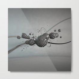 diamond explosion Metal Print