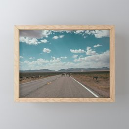 cows on the open road Framed Mini Art Print