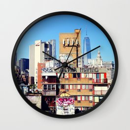 New York City, Graffiti on the Lower East Side  Wall Clock