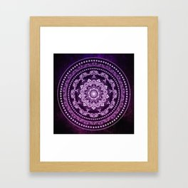 Purple Glowing Soul Mandala Framed Art Print