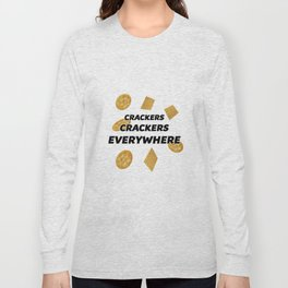 crackers everywhere Long Sleeve T-shirt