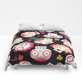 Sugar Skulls and Flowers Comforters