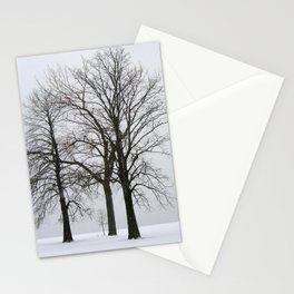 Three Trees in Winter Stationery Cards