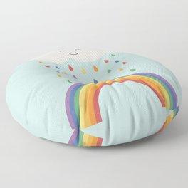 let's make rainbows Floor Pillow