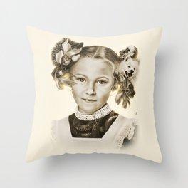 Childhood Pets Throw Pillow
