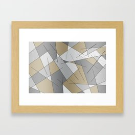 ABSTRACT LINES #1 (Grays & Beiges) Framed Art Print