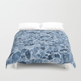 Pebbles Pattern in Blues Duvet Cover