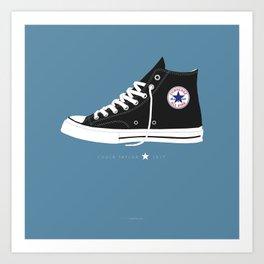 Chuck Taylor famous shoes Art Print