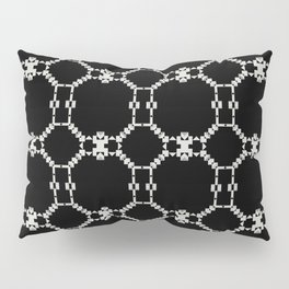 INSOMNIA black and white minimalist abstract pattern Pillow Sham