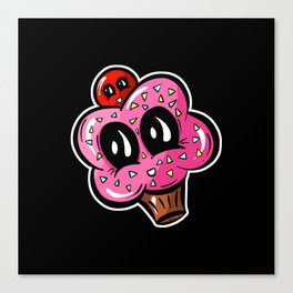 Pink Cupcake with a Cherry on Top! Canvas Print