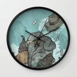 A dream about robbing a bank together Wall Clock