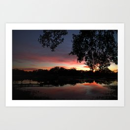 Serenity Sunset Art Print