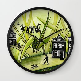The Green Grass of Home #1 Wall Clock
