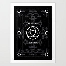 Dark Triquetra Symbol Art Print