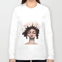 daisies Long Sleeve T-shirts featuring Daisies by Jaleesa McLean