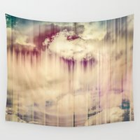clouds Wall Tapestries featuring Clouds by Hraun Photography