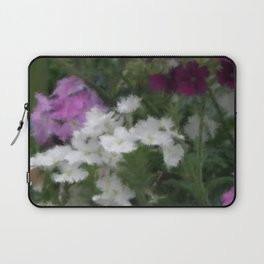 Purple And White Verbena Laptop Sleeve