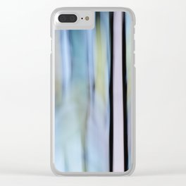 Buttery Lines (Abstract Blue) Clear iPhone Case