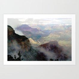 Cloudy Grand Canyon I Art Print