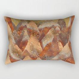 Abstract Copper  Gold Glitter Mountain Dreamscape Rectangular Pillow
