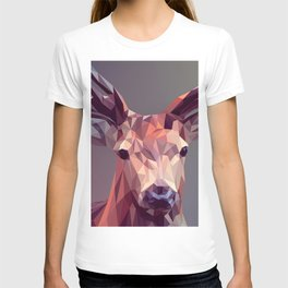 Colorful Polygons Abstract Deer T-shirt