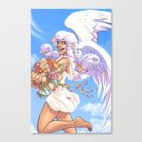 daunt Canvas Prints featuring Angel Bloom by Daunt