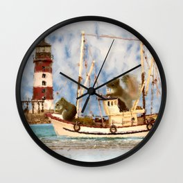 Squirrels Boat Lighthouse Child's Room Animal Art A347 Wall Clock