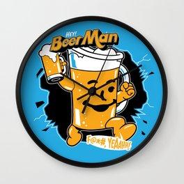 Hey, Beer Man! Wall Clock