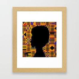 Kente Queen Framed Art Print