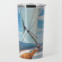 Sweet Sailing | Sailboat on the Chesapeake Bay in Annapolis, Maryland Travel Mug