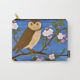 Night Owl on Blossoming Tree Carry-All Pouch