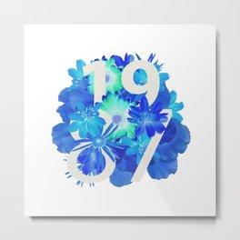 Blue Flower 1987 Metal Print