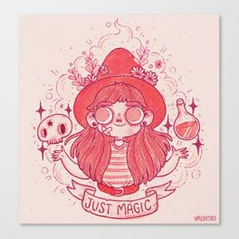 Cute Witchcraft Canvas Print