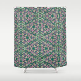 YELLO! Pink Flowers On The Lawn Shower Curtain