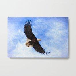 Bald Eagle Soaring In The Sky Metal Print
