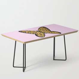 Pink Cheetah Leopard Print Butterfly Coffee Table