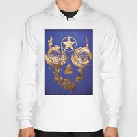 pentagram Hoodies featuring Pentagram / Crying roses  by i am gao