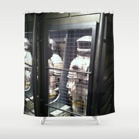 spaceman Shower Curtains featuring Spaceman by Brittany Bennett