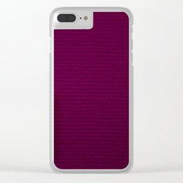 Electric Purple Clear iPhone Case