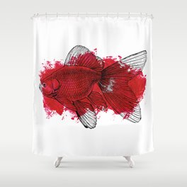 big red fish Shower Curtain
