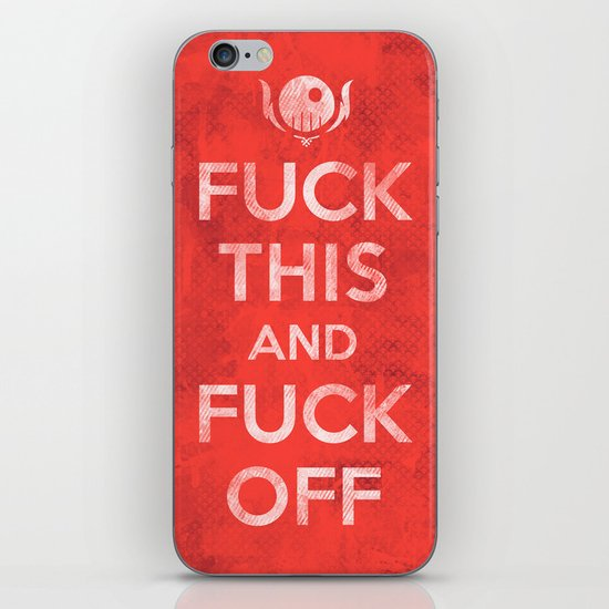 Public Service Announcement iPhone & iPod Skin
