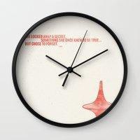 inception Wall Clocks featuring Inception by Ren Davis