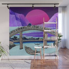 Synthwave Space: 36 views of mount Fuji #1 Wall Mural