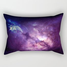 Purple Space Rectangular Pillow